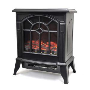 ヒーター 暖炉型 ファンヒーター 揺らめく疑似炎が温かい 暖炉型ファンヒーター ブラック VS-HF3201 ベルソス (D)(B)|joylight