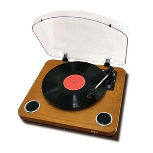 プレーヤー レコード ブルートゥース Bluetooth レコードプレイヤー ウッド調 HNB-PL1000BT(WD) BOOS (D)|joylight