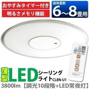 訳あり LED シーリングライト 天井 照明 8畳 CL8N-U1 (在庫処分) 一人暮らし おしゃれ 新生活|joylight