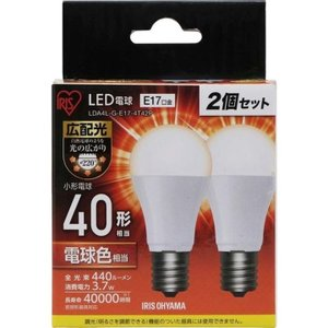 LED電球 E17 40W 4個セット 広配光 LED 電球 小型電球 LDA4N・L-G-E17-4T42P アイリスオーヤマ(あすつく)|joylight|07