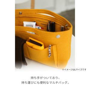 フェルト バッグインバッグ M サイズ インナーバッグ トラベルバッグ 収納バッグ レディース メンズ 男女兼用 大きめ おしゃれ 全4色|joyplus|05