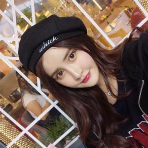 97285cf0a4f シンプル ロゴ 刺繍 ベレー帽 韓国 オルチャン ストリート ダンス 衣装 K-POP HIPHOP レトロ ガーリー 原宿系 英文字  ACC-36【メール便OK】
