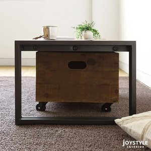 幅100cm オールドチーク材 木製 古材とアイアンを組み合わせた斬新でかっこいいリビングテーブル ローテーブル Sサイズ|joystyleinterior|03