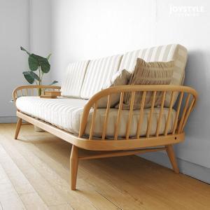 受注生産 英国家具 輸入家具 ウッドフレームの3Pソファ 美しいデザインのカウチソファ イギリス アーコール 355スタジオカウチ 355 studio couch ※輸入商品|joystyleinterior|02