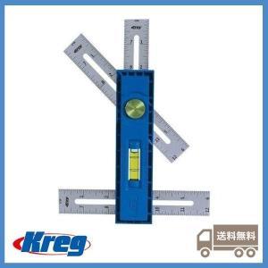 Kreg (クレッグ) マルチマーク 水平器付き多目的定規 KMA2900  90°スコヤ、45°スコヤ、デプスゲージとして 多機能スケール 正規輸入品 jp-liebe