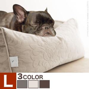 ペット用品 ペット ベッド ドルチェ Lサイズ タオル付き カドラー 犬用 猫用 中型 大型 ソファタイプ|jplamp