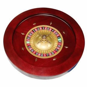 カジノルーレット プロフェッショナルルーレット 約20インチ(約50cm)<br> 木製ルーレット アメリカンスタイル【送料無料】【納期約2週間前後】|jplamp