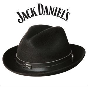 Jack Daniels/ジャックダニエル ウール フェードラハット (黒)キャップ帽子【テネシー直輸入】納期2〜3週間 jplamp