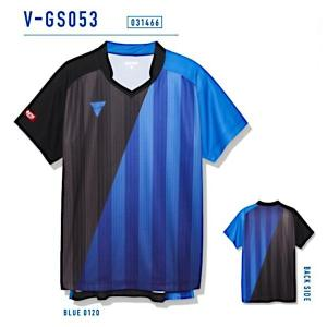 ビクタス 卓球 ウェア V-GS053 ゲームシャツ 男女兼用 ブルー 031466-0120 <2019CON>|jpn-sports