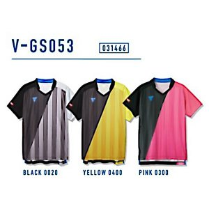 ビクタス 卓球 ウェア V-GS053 ゲームシャツ 男女兼用 イエロー 031466-0400 <2019CON>|jpn-sports