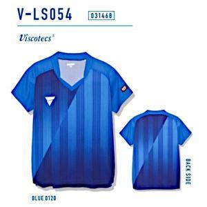 ビクタス 卓球 ウェア V-LS054 ゲームシャツ レディース ブルー 031468-0120 <2019CON>|jpn-sports
