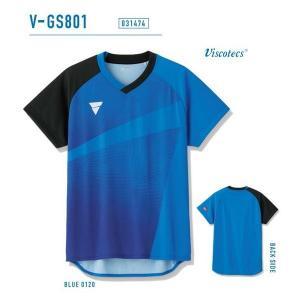 ビクタス 卓球 ウェア V-GS801 ゲームシャツ 男女兼用 ブルー 031474-0120 <2019NEW> jpn-sports