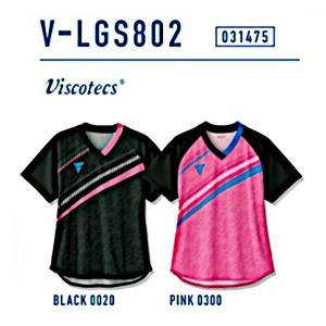 ビクタス 卓球 ウェア V-LGS802 ゲームシャツ レディース ブラック 031475-0020 <2019CON> jpn-sports
