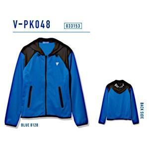 ビクタス 卓球 トレーニングウェア V-PK048 パーカージャケット 男女兼用 ブルー 033153-0120 <2019CON> jpn-sports