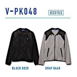 ビクタス 卓球 トレーニングウェア V-PK048 パーカージャケット 男女兼用 グレー 033153-0440 <2019CON> jpn-sports