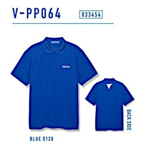 ビクタス 卓球 トレーニングウェア V-PP064 プラクティスポロシャツ 男女兼用 ブルー 033454-0120 <2019CON>|jpn-sports