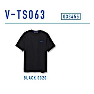ビクタス 卓球 トレーニングウェア V-TS063 プラクティスTシャツ 男女兼用 ブラック 033455-0020 <2019CON>|jpn-sports