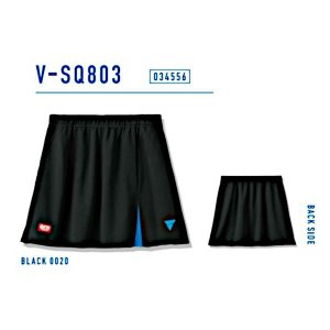ビクタス 卓球 ウェア V-SQ803 ゲームスコート レディース ブラック 034556-0020 <2019CON>|jpn-sports