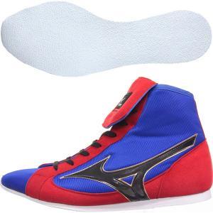 ミズノ ショートカットタイプ 折り返しベロ ボクシングシューズ イージーオーダー ネーム刺繍可能 21GX-151000-BLUTYPE03(21GX-181000)|jpn-sports