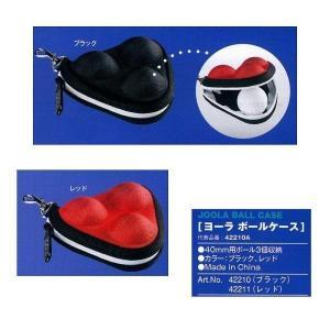 ヨーラ 卓球 ボール ボールケース レッド 42210A-RED <2019CON>|jpn-sports