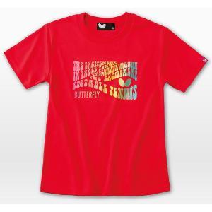 バタフライ 卓球ウエア ジョレノ・Tシャツ レッド 45170-006<2019CON>|jpn-sports