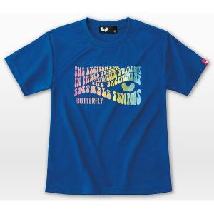 バタフライ 卓球ウエア ジョレノ・Tシャツ ロイヤルブルー 45170-183|jpn-sports