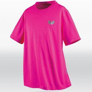 バタフライ 卓球 ウェア 男女兼用 ウィンロゴ・Tシャツ ロゼ 45230-016 <2019CON>|jpn-sports