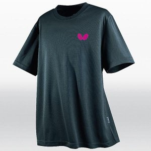 バタフライ 卓球 ウェア 男女兼用 ウィンロゴ・Tシャツ チャコール 45230-277 <2019CON>|jpn-sports