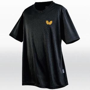 バタフライ 卓球 ウェア 男女兼用 ウィンロゴ・Tシャツ ブラック 45230-278 <2019CON>|jpn-sports