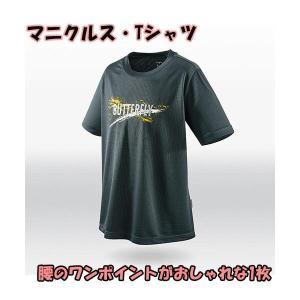 バタフライ 卓球 ウェア 男女兼用 マニクルス・Tシャツ チャコール 45500-277 <2019NEW>|jpn-sports
