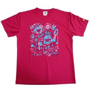 ジュウイック Tシャツ 卓球ウエア ドリームT 男女兼用 ピンクブルー 5544-PB <2019>|jpn-sports
