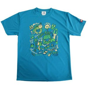 ジュウイック Tシャツ 卓球ウエア ドリームT 男女兼用 ターコイズクリーム 5544-TC <2019>|jpn-sports