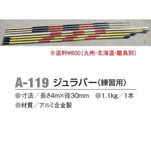 アカバネ 走高跳 ジュラバー(練習用) 長さ4m×径30mm A-119 <2019CON>|jpn-sports