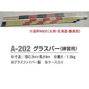 アカバネ 体育器具 陸上 走高跳 グラスバー(練習用) 径0.3m×長さ4m A-202 <2019CON>|jpn-sports