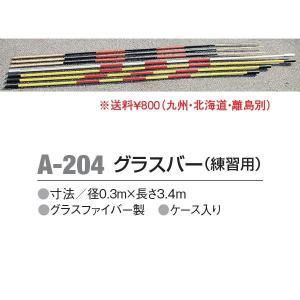 アカバネ 体育器具 陸上 走高跳 グラスバー(練習用) 径0.3m×長さ3.4m A-204 <2019CON>|jpn-sports