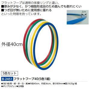 トーエイライト フラットフープ40(5色1組) B-2451 <2019CON> jpn-sports