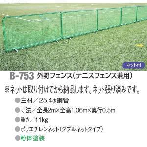 アカバネ 体育器具 野球 グランド 防球フェンス (テニス用フェンス兼用) ネット付き B-753 <2019CON> jpn-sports