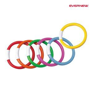 エバニュー 水泳 プール 学校 体育 ダイブリング(6色組) EHA108 <2019CON>|jpn-sports