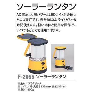 アカバネ アウトドア キャンプ 防犯用品 LEDライト ソーラーランタン F-2055 <2019CON>|jpn-sports