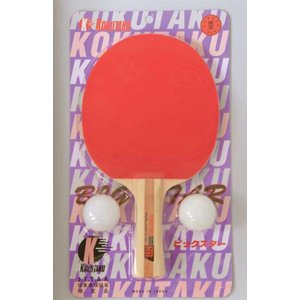 アカバネ 体育器具 学校 卓球ラケット ボール付き 1800RB F-2779 <2019CON>|jpn-sports