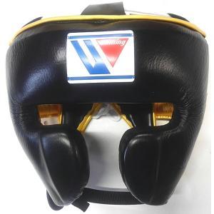 完全別注カラー ウイニング ボクシング ヘッドギア フェイスガードタイプ FG-2900-BLKGLD|jpn-sports