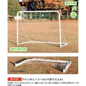 体育器具・体育用品 カネヤ アルミ45ミニゴール215折りたたみ K-137 <2019CON> jpn-sports