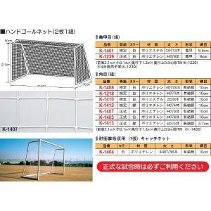 体育器具・体育用品 カネヤ ハンドネットPET120WT亀甲 K-1401 <2019CON> jpn-sports