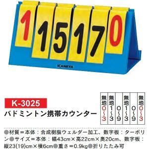 カネヤ 学校 体育 得点 バドミントン携帯カウンター K-3025 <2019NP> jpn-sports