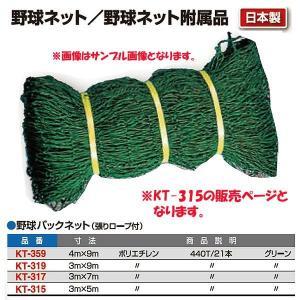 寺西喜 野球バックネット(張りロープ付) KT-315 <2019CON>|jpn-sports