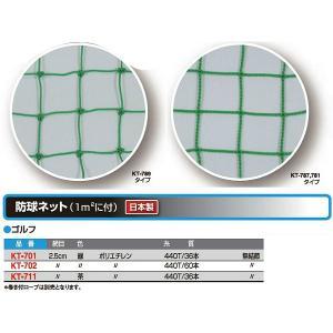 寺西喜 ゴルフ 防球ネット(1m2に付の販売です) 茶 KT-711 <2020CON>