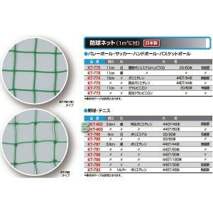 寺西喜 野球・テニス 防球ネット(1m2に付の販売です) 緑 KT-789 <2019CON>|jpn-sports