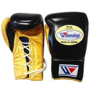 完全別注カラー ウイニング ボクシンググローブ プロ試合用 8オンス MS-200-BLKGLD|jpn-sports