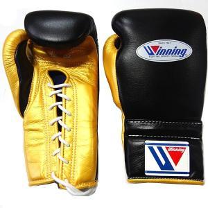 完全別注カラー ウイニング ボクシンググローブ プロ練習用 12オンス MS-400-BLKGLD|jpn-sports