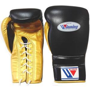 完全別注カラー ウイニング ボクシンググローブ プロ練習用 16オンス MS-600-BLKGLD|jpn-sports